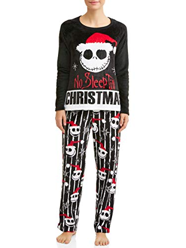 Disney Jack Skellington Nightmare Before Christmas Damen-Pyjama-Set - Schwarz - S 4/6 US