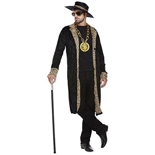 Spassprofi Pimp Daddy Samt Kostüm Herrenkostüm Macho Prolet Rapper Checker