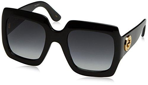 Gucci Damen GG0053S 001 Sonnenbrille, Schwarz (Black/Grey), 54