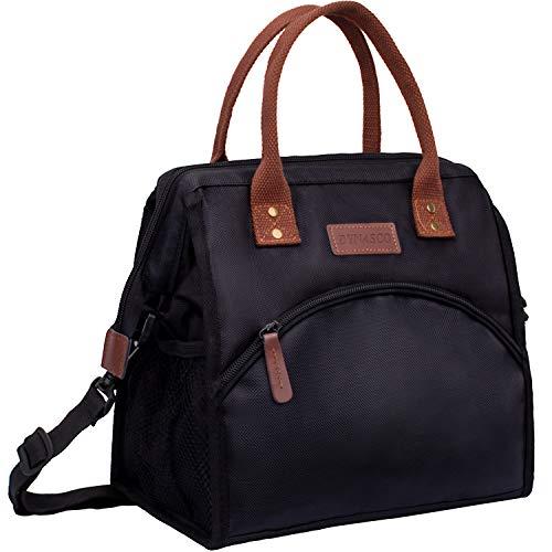 ANGGO Kühltasche Picknicktasche Cooler Bag Lunchtasche Thermo Tasche Thermotasche isoliert faltbar für Lebensmitteltransport BBQ, Wandern, Picknick 13L (Schwarz)