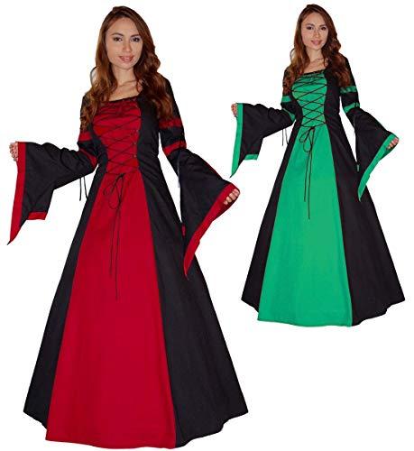 MAYLYNN Mittelalter Kleid Gewand Keyla rot - LARP, Größe:S