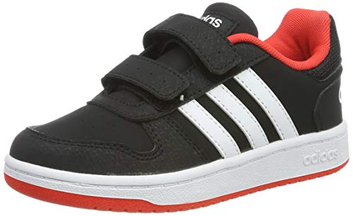 adidas Unisex-Kinder Hoops 2.0 CMF C Fitnessschuhe, Schwarz Negro 000, 30.5 EU