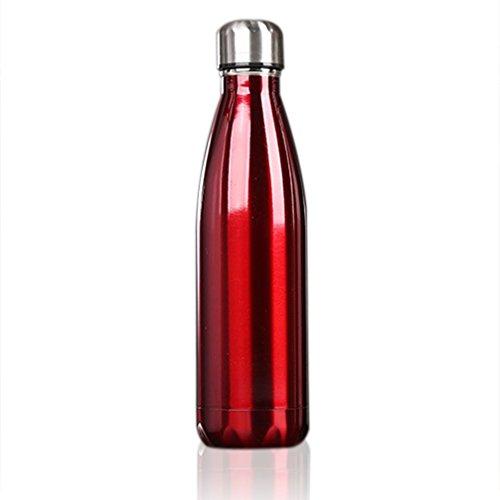 ALTERDJ Thermosflasche 500ml Doppelwandig Trinkflasche Edelstahl Wasserflasche Vakuum Isolierflasche Auslaufsicher (Rot)