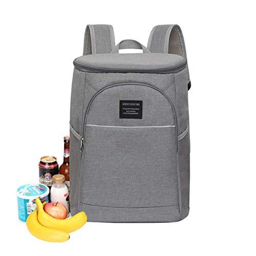 Kühltasche Picknicktasche Isolierte für Flaschen Multifunktion Große Thermotasche Rucksack Lunchbox Auslaufsicher für Aufbewarung des Warmen und Kalten Essen - Parteien/Picknick/Strand/Buffet,18L