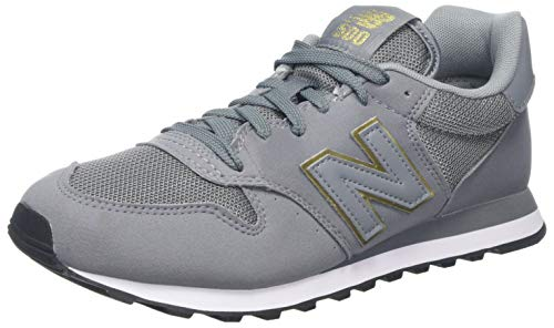 New Balance, Damen Sneaker, Grau (Grey/pink), 36.5 EU