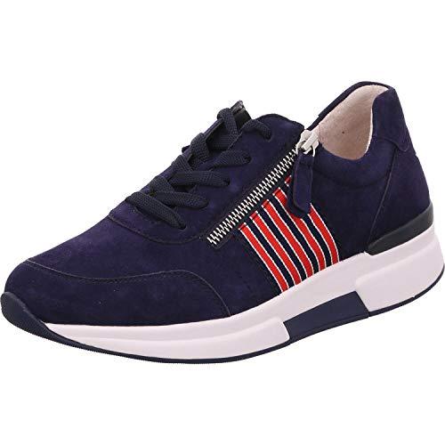 Gabor Rollingsoft Sneaker in Übergrößen Blau 46.928.36 große Damenschuhe, Größe:43