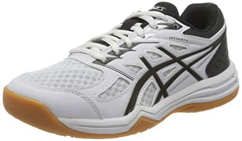 ASICS Unisex-Child Upcourt Volleyball Shoe, White/Black, 38 EU