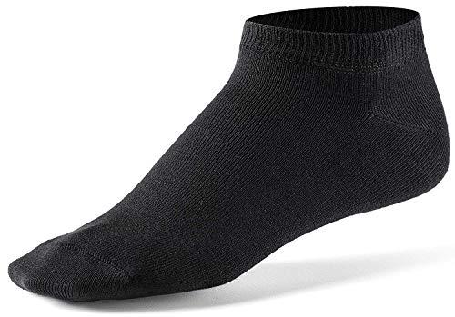 Alpensocken Spezial Silber Sneaker Socken Anti-Geruch Anti-Schweiß Sport Business Casual Schwarz Weiß (44-48, Schwarz - 10er Pack)