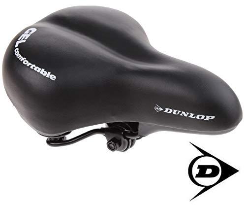 Dunlop FGC19 extra weicher ergonomischer Gel Fahrradsattel, Damen u. Herren Touring Cityradsattel gefedert, Komfort Gelsattel, Fahrrad Sattel gepolstert, schwarz