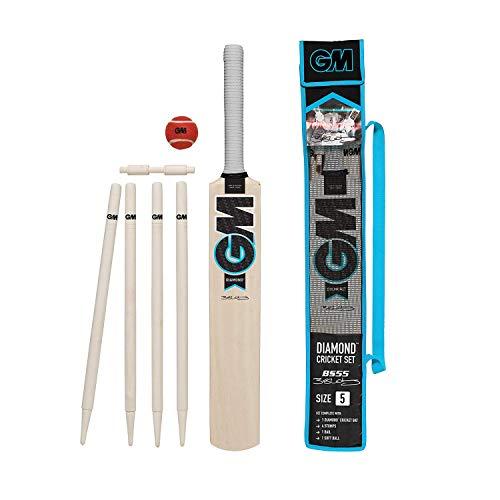 Gunn & Moore Kinder Diamond Cricket-Set, Schwarz/Blau/Weiß, 5