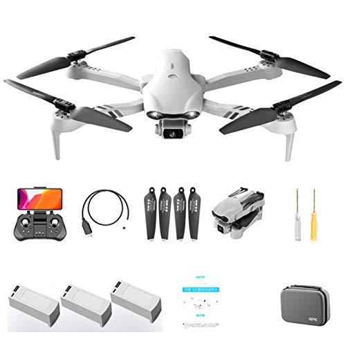 QUANXI F10 5G Drohne mit 6K HD Kamera, Faltbare FPV Drohne, WiFi 120 ° Weitwinkel RC Quadrocopter/Lange Flugzeit/Höhenlage / 3D Flip/Notlandung, Headless Modus für Anfänger (3* Batterien)
