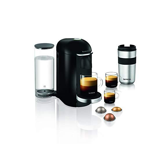 Krups Nespresso XN9008 Vertuo Plus Kaffeekapselmaschine, Piano Black, 1,7 L Wassertank
