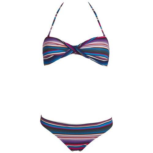 Chiemsee Damen Bandeau Bikini Badeanzug Tankini Ebony, 1060708, Stripe Bonnie, Gr. XL