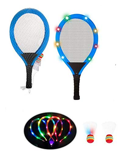 Spiel AG Federball Jumbo Set Softtennis 56 cm Badminton mit LED Beleuchtung