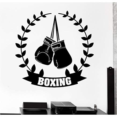 Jungen Raumdekoration Wandaufkleber Boxhandschuhe Box Champion Decor Art Vinyl Aufkleber 56 * 56 Cm