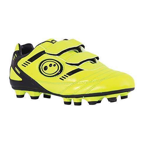 Optimum Jungen Tribal-Velcro Moulded Stud Fußballschuhe, Gelb (Yellow/Black), 32 EU