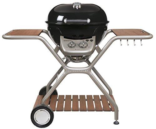 """Outdoorchef Gasgrill """"Montreux 570G Wood"""" – Kugelgrill für saftige Steaks ohne Wenden – Gas grill für Balkon Terrasse und Garten – Steak Grill Ø 57 cm mit 9.7 kW"""