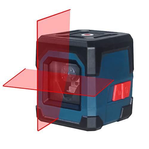 Kreuzlinienlaser, HANMATEK LV1 Kreuzlinien-Laser mit Messbereich 15M, IP 54 Umschaltbar Selbstnivellierende Vertikale und Horizontale Linie, 360 Grad Drehbar mit Flexiblem Magnetfuß inklusive Batterie