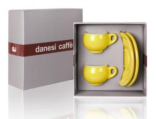 Danesi Duo Gelb - 2er Espressotassenset im Geschenkkarton
