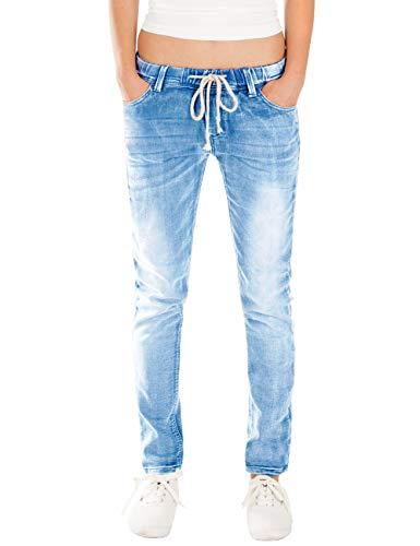Fraternel Damen Jeans Hose Relaxed Loose fit Blau M