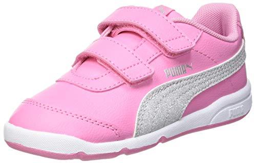 Puma Baby Mädchen STEPFLEEX 2 SL VE GLITZ FS V I Sneaker, Sachet Pink Silver White, 26 EU