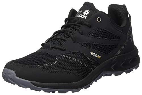 Jack Wolfskin Herren Woodland Vent Low M Cross-Trainer, Schwarz (Black/Grey 6069), 41 EU