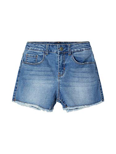 NAME IT Mädchen Mom Fit Jeans Shorts High Waist 128/8 Jahre
