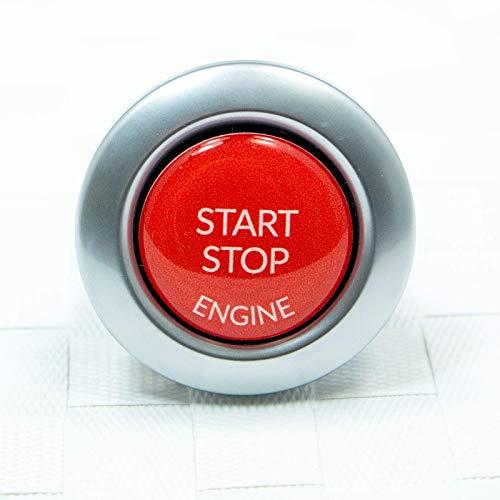 Start Stop Engine Knopf (1 Stück) Aufkleber Reparatur Schalter Schutz Kappe Austausch Taste Tastenabdeckung zündschlüssel Cover Zündung Rot
