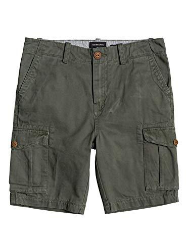 Quiksilver Jungen Crucial Battle - Cargoshorts für Männer Walk Shorts, Thyme, M