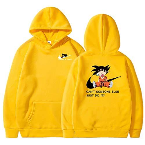 HNOSD Naruto Dragon Ball Z Hoodies 3D Druck Pullover Sportswear Sweatshirt Dragonball Super Saiyajin Son Goku Outfit 3 M