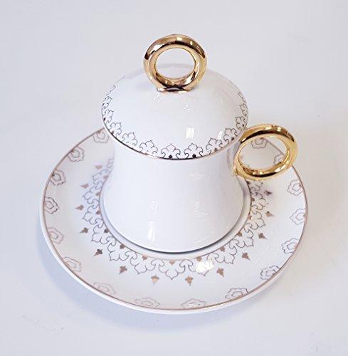Korkmaz A8639 Freedom Bone Porcelan Türk Kahve takimi Mokka set Cofee cup 12 tlg