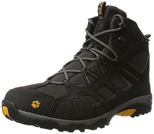 Jack Wolfskin Vojo Hike Mid Texapore Men Wasserdicht, Herren Trekking- & Wanderstiefel, Grau (Burly Yellow 3800), 39.5 EU