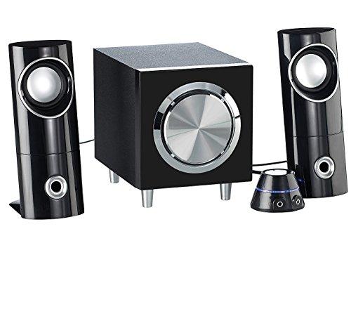 auvisio PC Boxen: Aktives 2.1-Multimedia-Soundsystem mit Subwoofer MSX-220, 32 Watt (2 1 Lautsprecher)