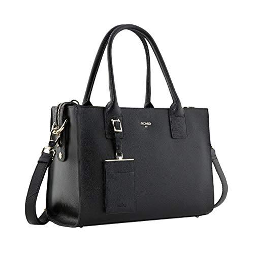 Picard Miranda Handtasche S aus Rindsleder - längenverstellbarer Schultergurt, Reissverschlussfach, Druckknopfverschlüsse 23 x 31 x 14 cm (H/B/T) Damen (8744)