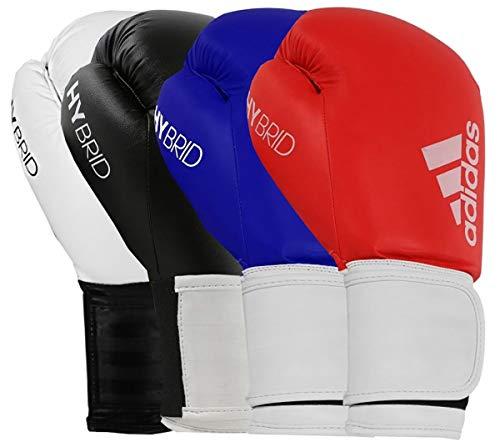 adidas Unisex Boxhandschuhe Herren Damen Kinder Sparring Training Hybrid 100 170,1 227,8 283,5 340,2 397,9 453,6 g, Schwarz, 170,1 g
