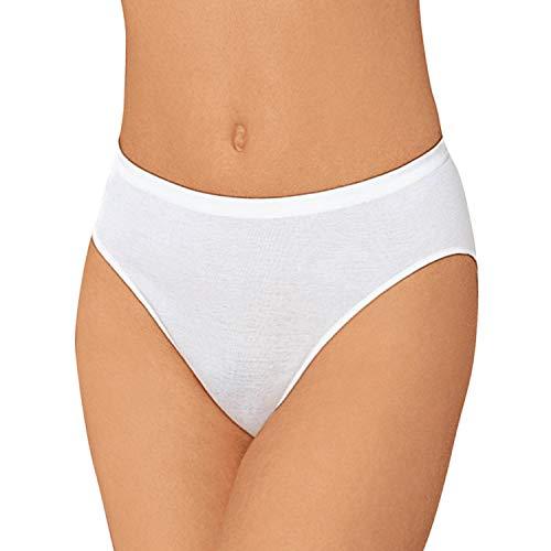 Nina von C. 3er Pack Jazzpants aus 100% Baumwolle in Weiß I Slips Damen Gr. 40 I Damen Slips Multipack I Unterhosen Damen I Frauen Unterhosen I Damenslip I Baumwoll Unterhosen