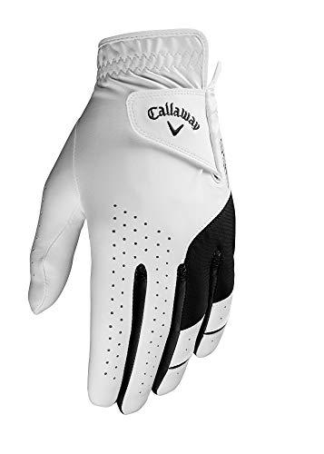 Callaway Herren Golf Weather Spann Linkshänder Handschuhe, Mittlere, Weiß