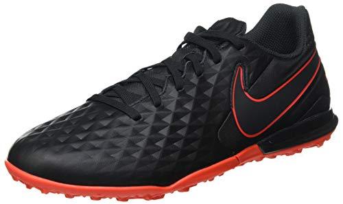 Nike Herren Legend 8 Academy TF Futsal-Schuh, Black/DK Smoke Grey-Chile RED,43 EU