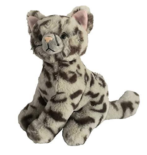 Inware 8970 - Kuscheltier Katze Kitty, grau getigert, 23 cm, Schmusetier, Plüschtier