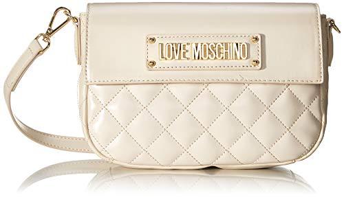 Love Moschino Damen Borsa Quilted Nappa Pu Kuriertasche, Elfenbein (Avorio), 16x23x6 centimeters (W x H x L)