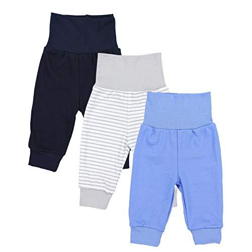 TupTam Baby Jungen Lange Pumphose 3er Pack, Farbe: Farbenmix 1, Größe: 74