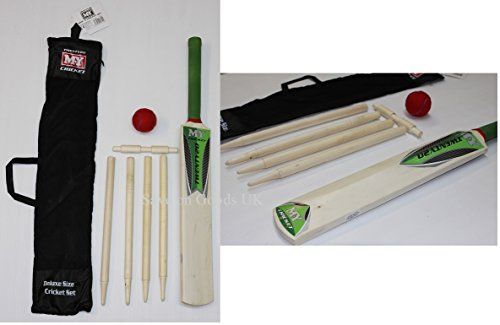 Save On Goods UK Cricket-Set für Kinder, aus Holz, für Strand und Garten, Cricketschläger und Ball-Set.