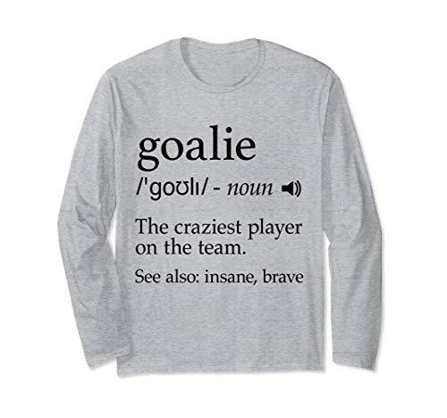 Torwart Definition Ausrüstung für Fußball Hockey Lacrosse Langarmshirt