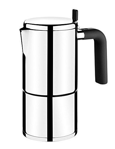 BRA 170403 Bali Italienische Kaffeemaschine für 10 Tassen, Edelstahl