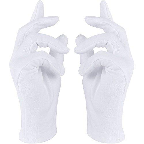 Weiße Handschuhe in Einheitsgröße mit Biesen für Damen Herren Kinder