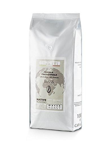 GEPPETTO Miscela Tradizionale 80% Robusta – 20% Arabica Kaffeebohnen 1kg, italienischer Caffè