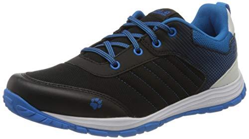 Jack Wolfskin Unisex-Kinder Cascade Low K Cross-Trainer, Schwarz (Black/Blue 6058), 38 EU