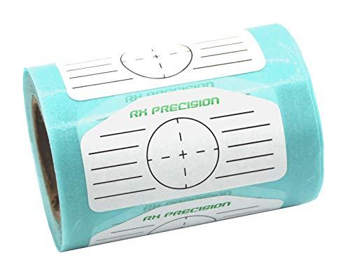 RX PRECISION - Golf Impact Tape - 250 Etiketten/Label - Eisen/Driver/HÖLZER - FÜR LINKSHÄNDER UND RECHTSHÄNDER - FACETAPE - Sweet Spot Analyse - SCHWUNGTRAINER