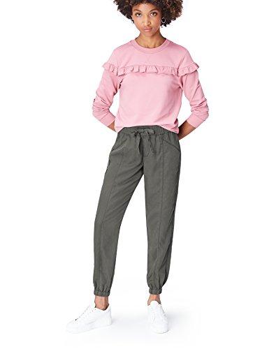 Amazon-Marke: find. Damen Hose, Grau (Grey), 36, Label: S