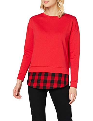 edc by ESPRIT Damen 090CC1K335 T-Shirt, 630/RED, M